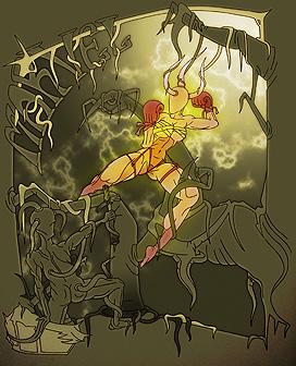 Marvel - teckning av Joel Öhrn